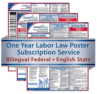 ComplyRight 1 Year State & Federal Poster Service, Oregon--Bilingual Fed & Eng State Posters (U1200CBOOR)