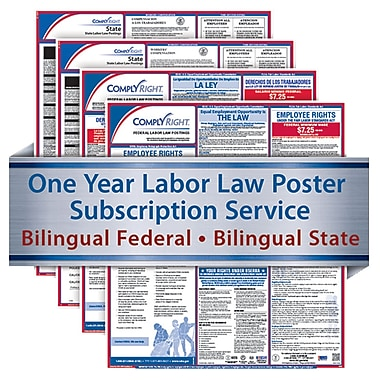 ComplyRight 1 Year State & Fed Poster Service, Louisiana--Bilingual Fed & Bilingual State Posters