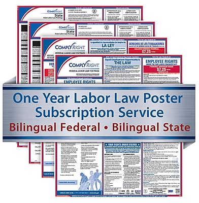 ComplyRight 1 Year State & Fed Poster Service, Arizona--Bilingual Fed & Bilingual State Posters (U1200CBAAZ)