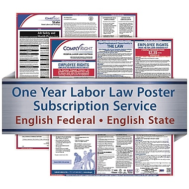 ComplyRight 1 Year State & Federal Poster Service, Tennessee--English Federal & State Posters