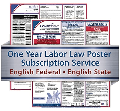 ComplyRight 1 Year State & Federal Poster Service, Mississippi--English Federal & State Posters (U1200CMS)