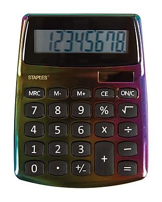 Staples® SPL-230 8-Digit Display Calculator, Assorted Designs
