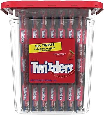 TWIZZLERS Strawberry Twists, 105 Count, 33.3 oz