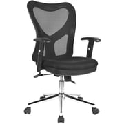 Techni Mobili High-Back Mesh Task Chair, Black
