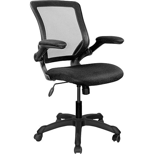 techni mobili mid back mesh task chair adjustable arm black staples