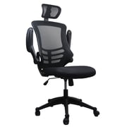 Techni Mobili Executive High Back Mesh Chair, Black