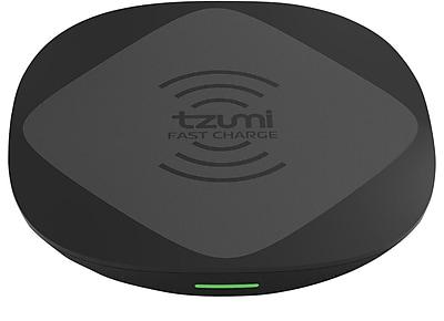 Tzumi Wireless Power Desk Pad, 10 Watt, Black