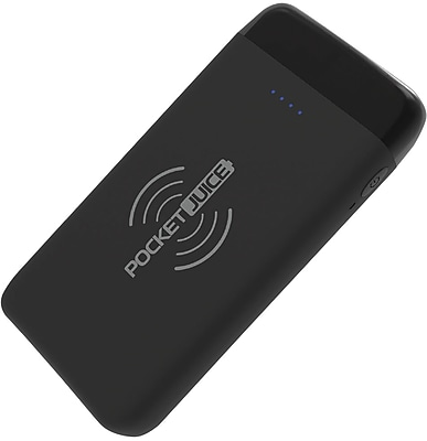 Tzumi Pocket Juice Wireless, 12,000 mAh, Black