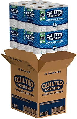 Quilted Northern Ultra Soft & Strong 2-Ply Toilet Paper, 48 Rolls/Carton (94313)