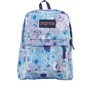 "JanSport SuperBreak Backpack, 16.7"" x 13"" x 8.5"", Striped Floral (JS00T50141G)"