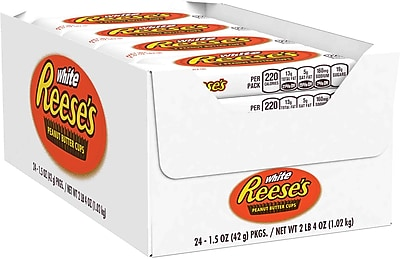 REESE'S White Peanut Butter Cups, 1.5 oz., 24 Count (209-00156)
