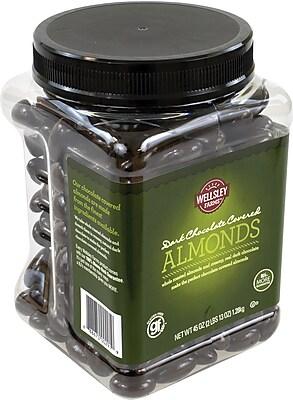 Lyndon Reede Dark Chocolate Covered Almonds, 45 oz. Tub