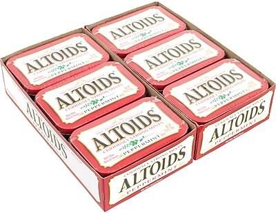 Altoids Curiously Strong Mints, Peppermint , 1.76 oz, 12 Count