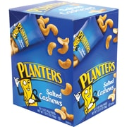 Planters® Salted Cashews, 1.5 oz. Bags, 18/Box  (07568)