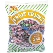 Assorted Fruit Chews; 240-Piece Bag