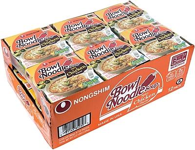 Nongshim Bowl Noodle Soup 12 Pack (220-00481)