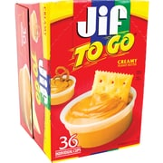 Jif® To Go™ Creamy Peanut Butter, 1.5 oz. Cups, 36 Cups/Box (220-00535)