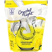 Crystal Light® On-The-Go Powdered Drink Mix, 8.6 oz. Pitcher Packets, Lemonade, 16/Box (220-00552)