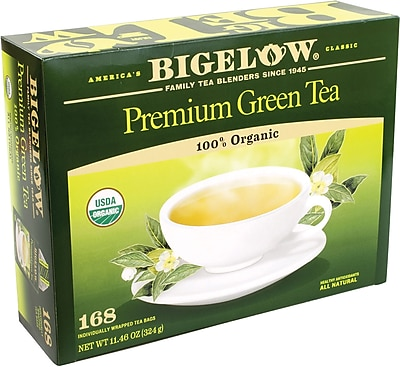 Bigelow® Premium Organic Green Tea Bags, 168 Tea Bags/Box (220-00564)