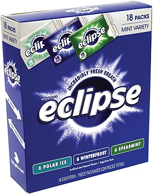 Eclipse Mint Gum Sugar Free Variety Pack, 18 Count