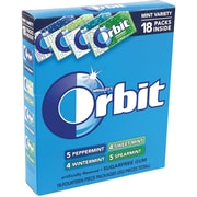 Orbit Mint Gum Sugar Free Variety Pack, 18 Count | Staples