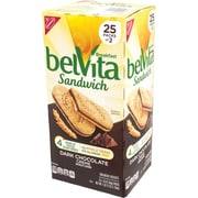 Belvita Breakfast Sandwich Dark Chocolate Creme, 1.76 oz, 25 Pack