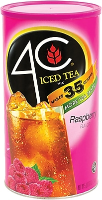 4c Iced Tea Mix Raspberry, 5.49 lb