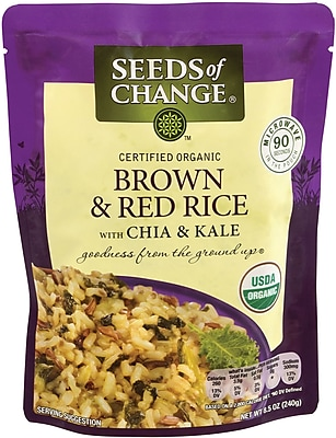 Seeds of Change Brown & Red Rice with Chia & Kale, 8.5 oz, 6 Count