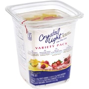 Crystal Light® On-The-Go Powdered Drink Mix, 0.09 oz. Packets, Variety Pack, 44/Box (03685)