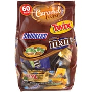 Mars Caramel Lovers Chocolate Miniatures, 60-piece, 37.70 oz, 2 Pack