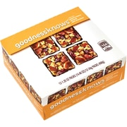 goodnessknows Peach and Cherry Almond Dark Chocolate Snack Squares 12-Count Box
