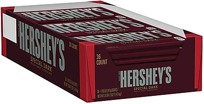 HERSHEY'S SPECIAL DARK Mildly Sweet Chocolate Bars, 1.45 oz, 36 Count