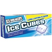 ICE BREAKERS ICE CUBES Sugar Free Peppermint Gum, 10/CT (246-00200)