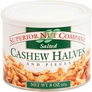 Superior Nut Salted Cashew Halves, 8 oz, 12 Count