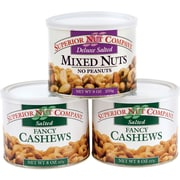 Superior Nut Deluxe Salted Mixed Nuts and Whole Cashews, 9 oz, 3 Pack