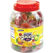 Individually Wrapped Assorted Fruit Slices, 150 Pieces/Jar