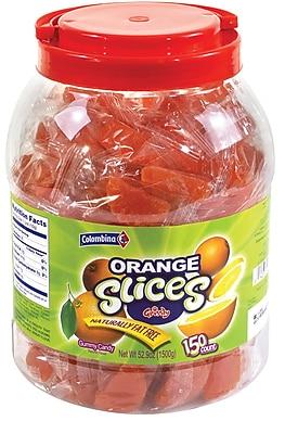 Individually Wrapped Orange Fruit Slices, 150 Pieces/Jar
