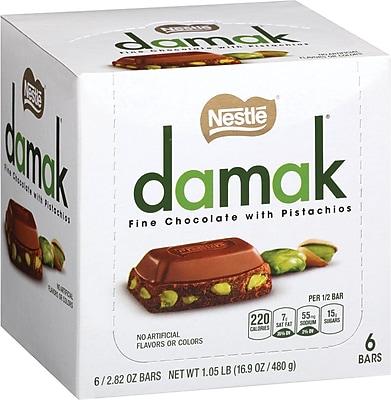 Nestle Damak Fine Chocolate with Pistachios, 2.82 oz, 6 Count
