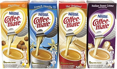 Coffee-Mate Singles Variety Pack Dairy Free Creamer, 50 Count, 4 Pack (283-00012)