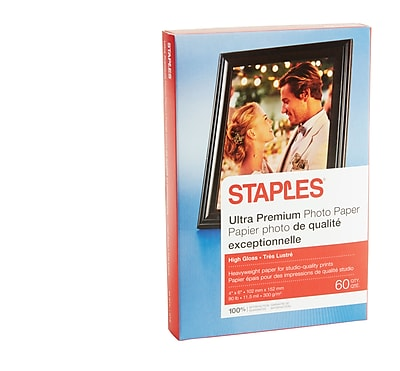 Staples® Ultra Premium Photo Paper, 4