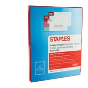 "Staples® Inkjet Business Cards, 2"" x 3 1/2"", Matte, White, 500/Cards"