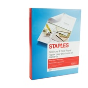 "Staples® Brochure & Flyer Paper, 8.5"" x 11"", White Gloss, 150/Pack (12486)"