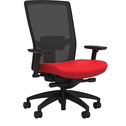 Workplace2.0™ 500 Series Fabric Task Chair, Ruby Red, Adjustable Lumbar, 2D Arms, Advanced Synchro Tilt