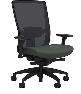 Workplace Series 500 Fabric Task Chair, Iron Ore, Adjustable Lumbar, 2D Arms, Advanced Synchro Tilt, Partially Assembled
