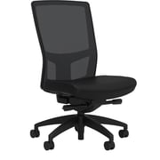 Workplace Series 500 Fabric Task Chair, Black, Integrated Lumbar, Armless, Advanced Synchro Tilt, Partially Assembled