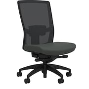Workplace Series 500 Fabric Task Chair, Iron Ore, Adjustable Lumbar, Armless, Advanced Synchro Tilt, Partially Assembled