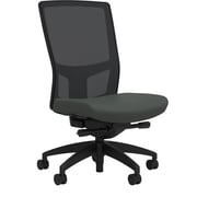 Workplace Series 500 Fabric Task Chair, Iron Ore, Integrated Lumbar, Armless, Advanced Synchro Tilt, Partially Assembled