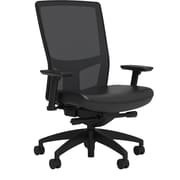 Workplace Series 500 Vinyl Task Chair, Black, Integrated Lumbar, 2D Arms, Advanced Synchro Tilt, Partially Assembled