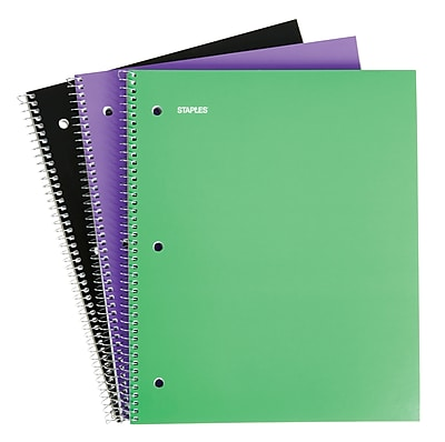 Staples® 1 Subject Notebook, 8-1/2