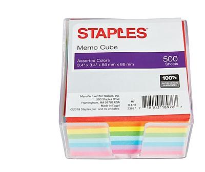Staples® Memo Cube